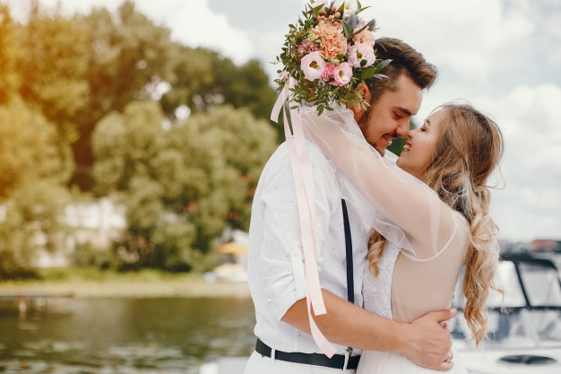 beautiful-bride-with-her-husband-park